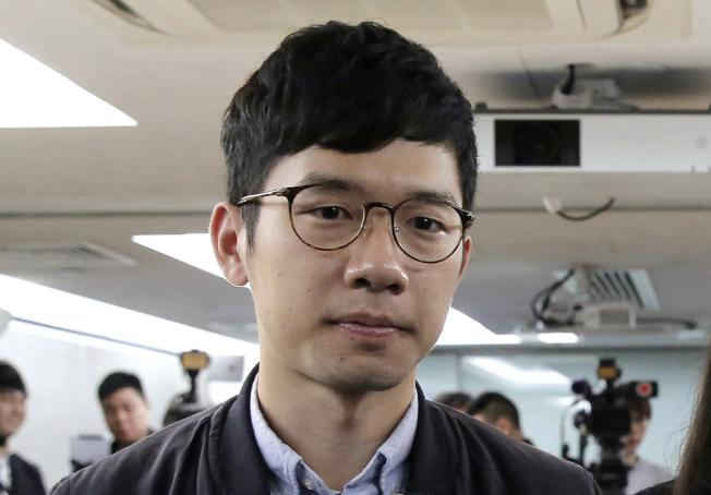 香港民主運動人士、前香港眾志的核心成員羅冠聰。美聯社