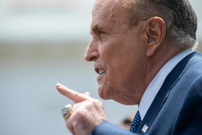 川普私人律師朱利安尼。(Getty Images)