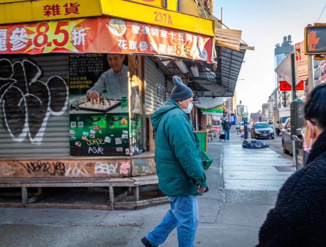 逾6成紐約客認為疫情峰值還未到來。(記者張晨/攝影)