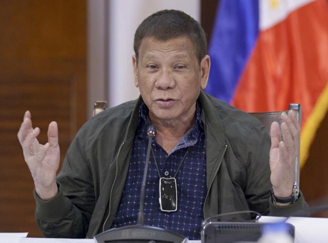 菲律賓總統杜特蒂。美聯社