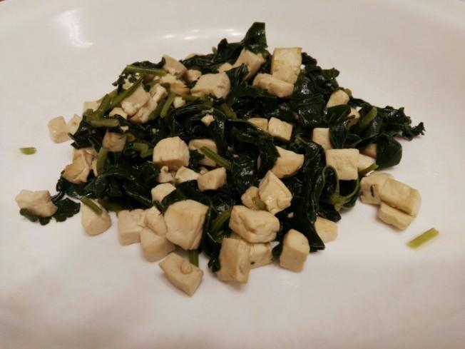 冬莧菜炒豆腐