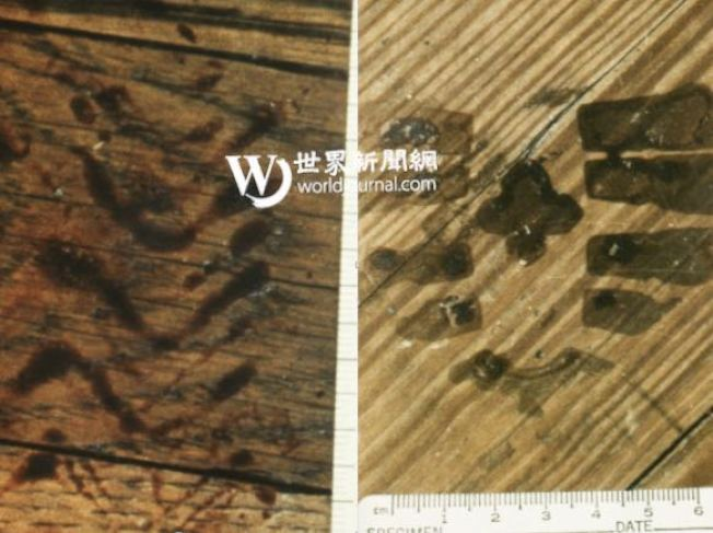 謀殺65歲的退休卡車司機凶案現場發現了兩個疑似嫌犯的腳印。(李昌鈺提供)