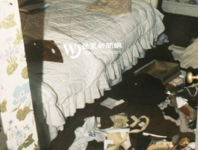 受害者的臥室被洗劫一空,證明凶殺案與盜竊案有關。(李昌鈺提供)