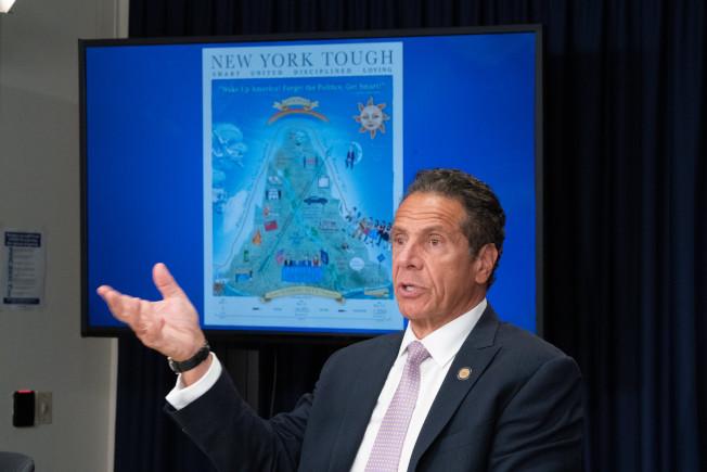 葛謨表示,由於國慶日長周末民眾疏於防疫,長島出現群聚感染,他提醒民眾繼續提高警惕。(州長辦公室提供)