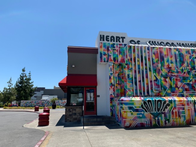 東聖荷西東南側Evergreen社區有新裝修好的Eastridge購物中心,內有上百家店家及電影院。(記者江碩涵/攝影)