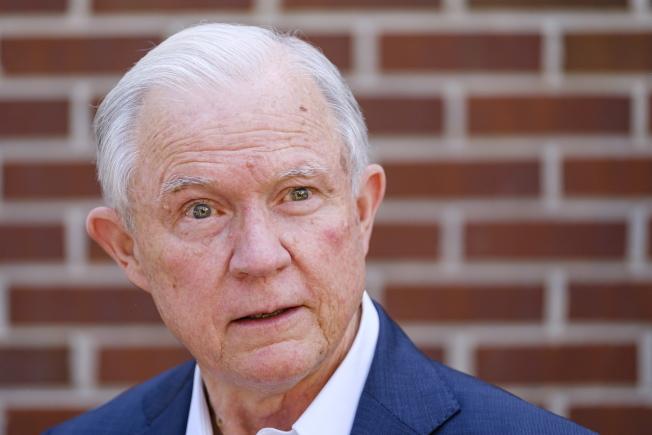 前司法部長塞辛斯14日在阿拉巴馬州共和黨參議員提名選戰中落敗。(歐新社)