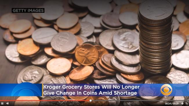 新冠疫情帶來想不到的後遺症,美國竟然面臨硬幣短缺。(CBS電視台)