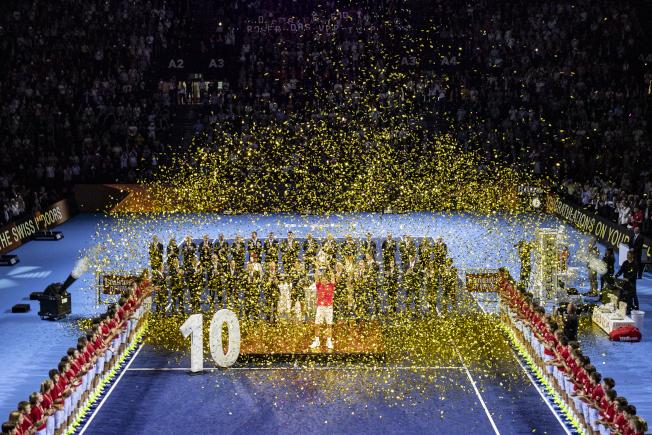 費德勒在巴塞爾拿下10次冠軍。(美聯社)