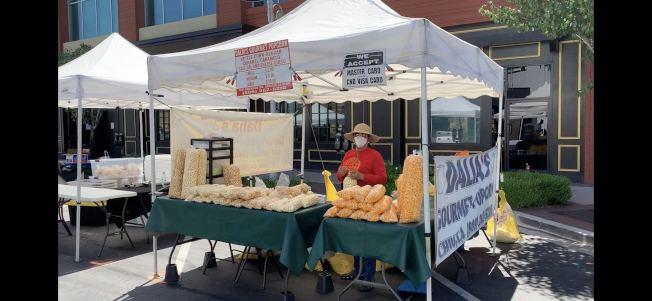 奇諾岡市農夫市場試吃項目取消。(記者啟鉻/攝影)