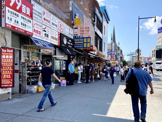 紐約市獲得聯邦PPP貸款的商家比率低於全國州平均值。(記者朱蕾/攝影)
