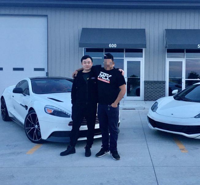 廖若晨生前經營的車行是他和同伴一起設立,主要銷售高端豪華車型。(圖片取自廖家設立的尋人網站)