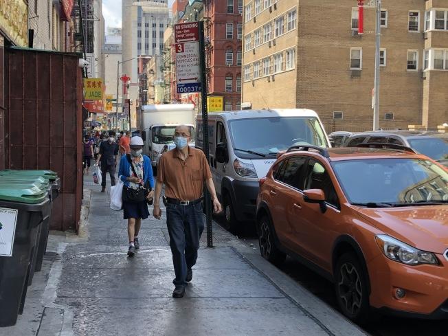 紐約市雖將進入第四階段復工,但華埠仍難見復甦。(記者顏嘉瑩/攝影)