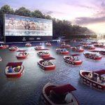 疫情下創意休閒 芝加哥水上電影院「浮」現