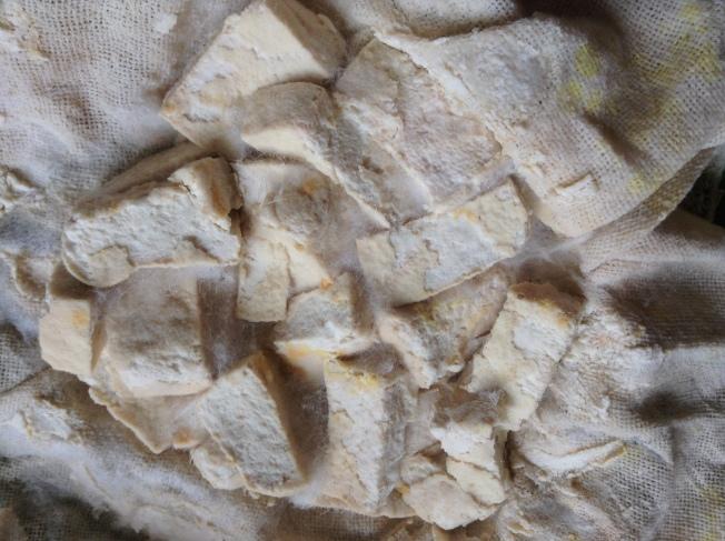 5.發酵後的毛豆腐。