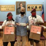 感謝「守護天使」 中華公所慨捐1000片口罩