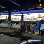 紐約市遊民暴增 高架橋下安營扎寨