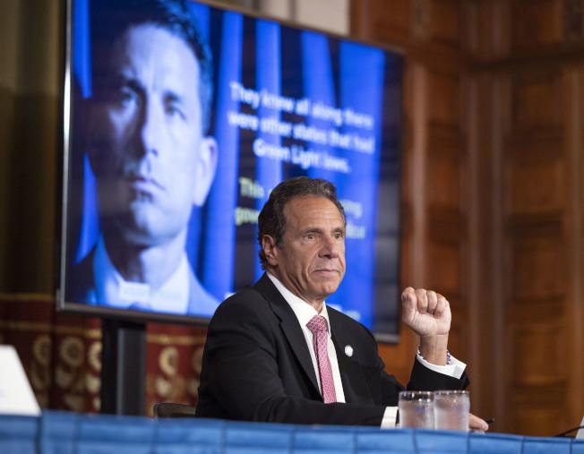紐約州長葛謨表示,將投資3000萬元加強新冠疫情追蹤及流感季預防。(紐約州長辦公室提供)
