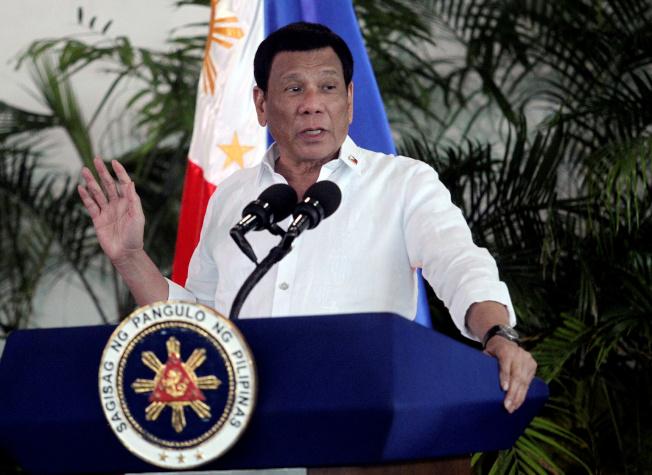 菲律賓總統杜特蒂。(路透)