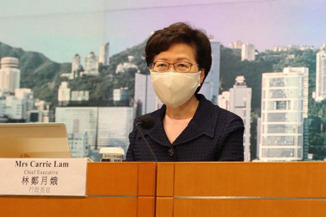 香港特首林鄭月娥宣布推遲香港特區第七屆立法會選舉。(新華社)