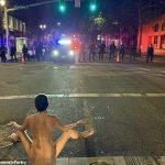 俄勒岡州種族示威 「裸身雅典娜」真實身分曝光