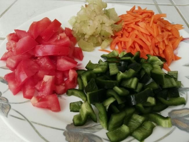 綜合蔬菜餅材料