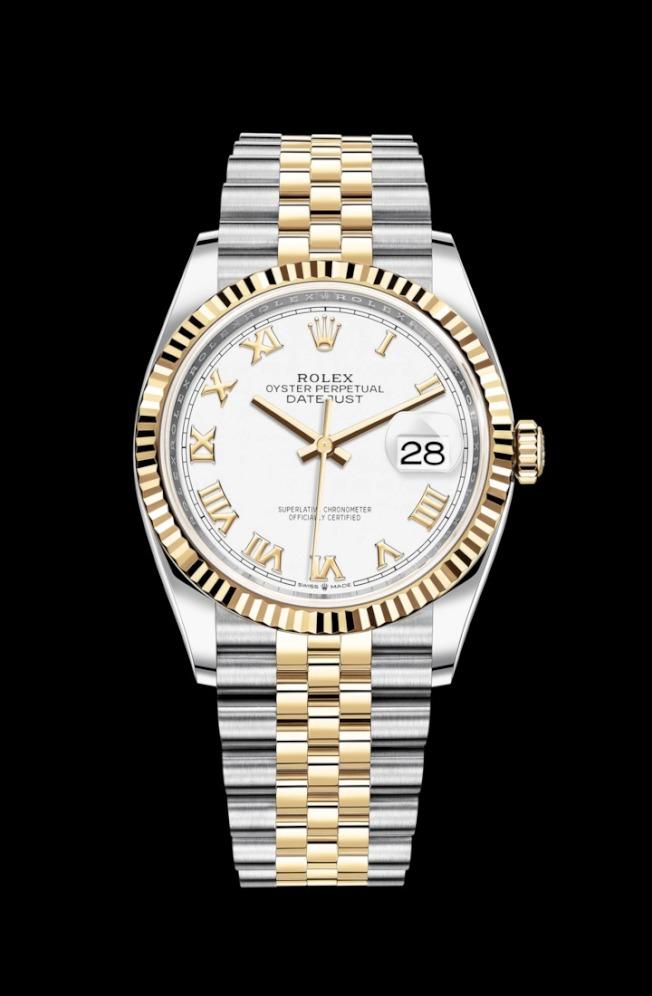 簡約經典的三針、日期表款,較能討父親歡心。圖為Rolex Datejust 36毫米腕表。(圖:ROLEX提供)