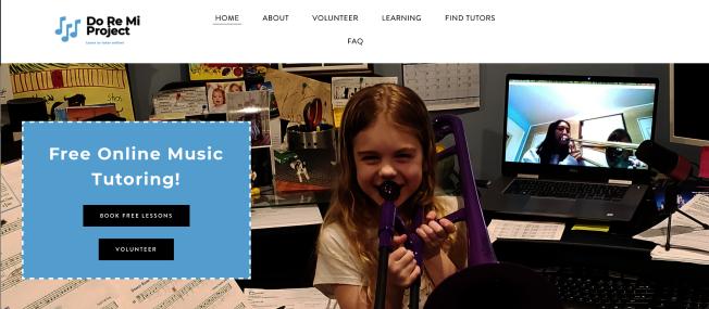 從2月創辦至今,「Do Re Mi Project」已提供逾2000堂課程,有超過300名學生和100名家教參與,提供26種樂器和樂理課程。(取自官網)