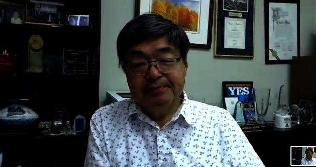 亞美政聯主席胡澤群出席。(視頻會議截圖)