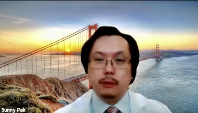 白幹榮對舊金山的疫情趨於惡化感到擔憂。(舊金山應急管理局直播視頻截圖)