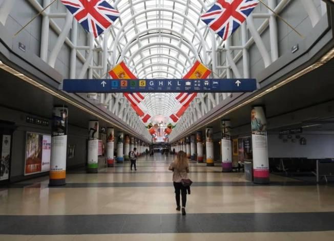 芝加哥機場7月31日晚間開始,沒有持當日機票的旅客,將禁止進入航站大樓。(芝加哥歐海爾機場臉書)
