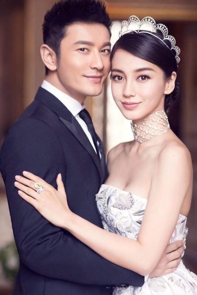 黄晓明原本的婚照。 (取材自微博)
