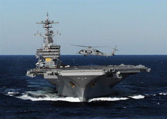 美國航空母艦布希號官兵今夏驗出武漢肺炎陽性反應,但海軍拒絕透露確診人數。(圖取自美國海軍網頁www.public.navy.mil)