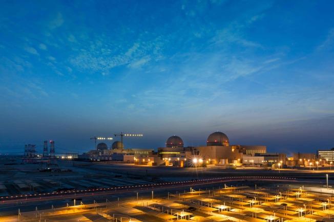 阿拉伯聯合大公國境內的巴拉卡核能發電廠1日啟動運轉,這是阿拉伯世界首座。(Getty Images)