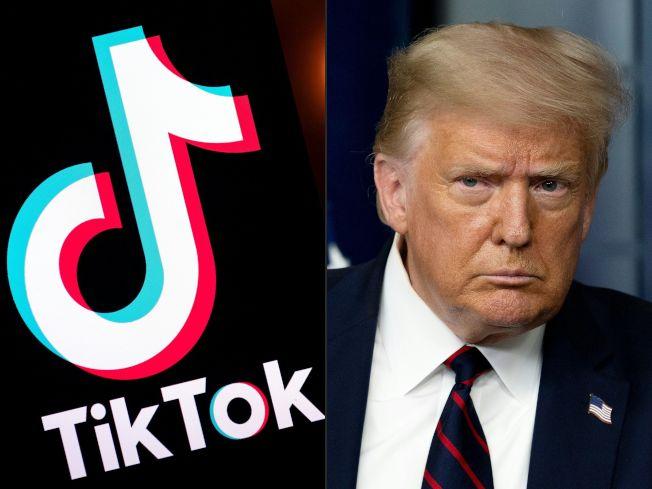 川普總統以國安問題為由,即將宣布總部在北京「跳動字節」的抖音海外版Tiktok的App,禁止在美國使用。(Getty Images)