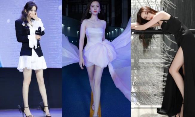 炎熱夏天女星偏愛細繫帶款式高跟涼鞋,每個都變身超辣「腿精」。摘自微博