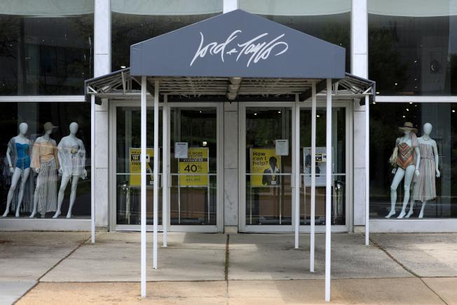 美國最老牌百貨公司羅德與泰勒2日請破產保護。(路透)