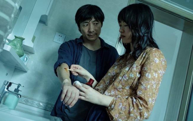 黃璐(右)演的《六欲天》入圍坎城電影節。(黃璐提供)