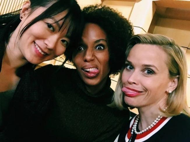 黃璐(左)在拍戲過程中收穫Kerry(中)和Reese(右)兩個好朋友。(黃璐提供)