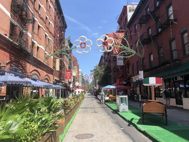 紐約市超八成餐飲業者無法支付本月全額房租。(記者張晨/攝影)