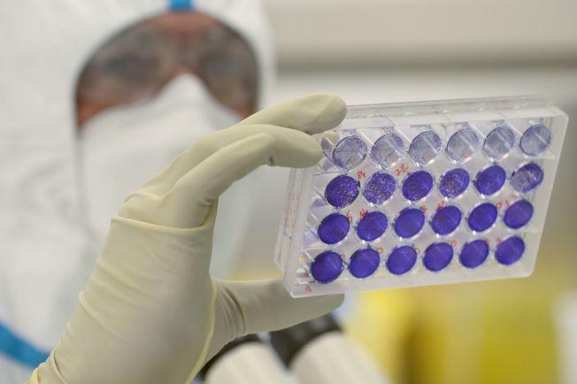 世衛組織認為,即使新冠疫苗及時研發成功,但也非萬靈仙丹,日常生活也被疫情徹底改變,而且施打疫苗的優先順序也將引發爭議。圖為與其他國家競爭研發的法國新冠疫苗劑。(美聯社)