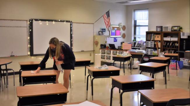 切洛基郡(Cherokee)學校在周一開學,除了網路上課選項,亦有學生選擇到校上課。(切洛基郡學校網站)