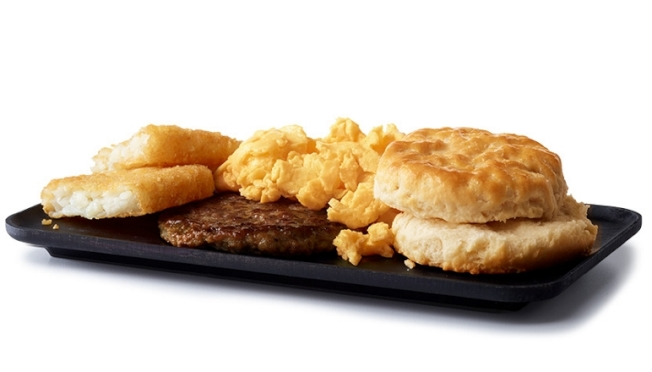 在家工作改變飲食習慣,速食店早餐業務受衝擊。圖為麥當勞早餐。(麥當勞網站)