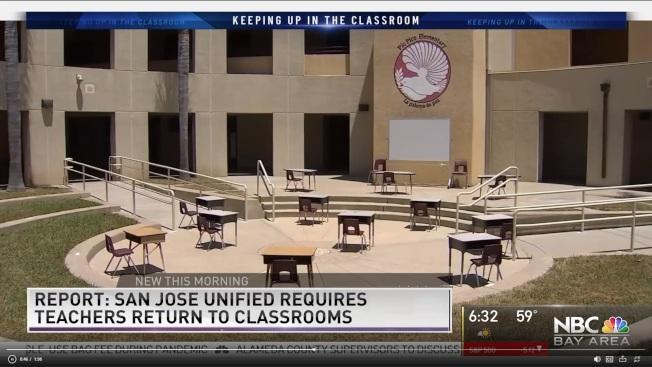 聖荷西一所學校安排了戶外教學場地。(電視新聞截圖)
