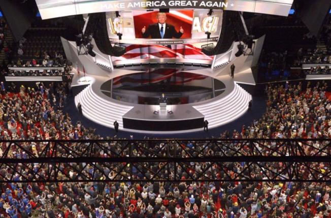 共和黨2016年全代會,川普獲得提名角逐總統。(美聯社)