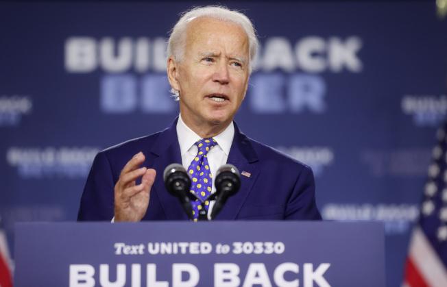 美國民主黨準總統參選人白登(Joe Biden)。路透