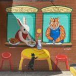 藝術家華埠手繪「麵條店」互動壁畫 12生肖將帶好運