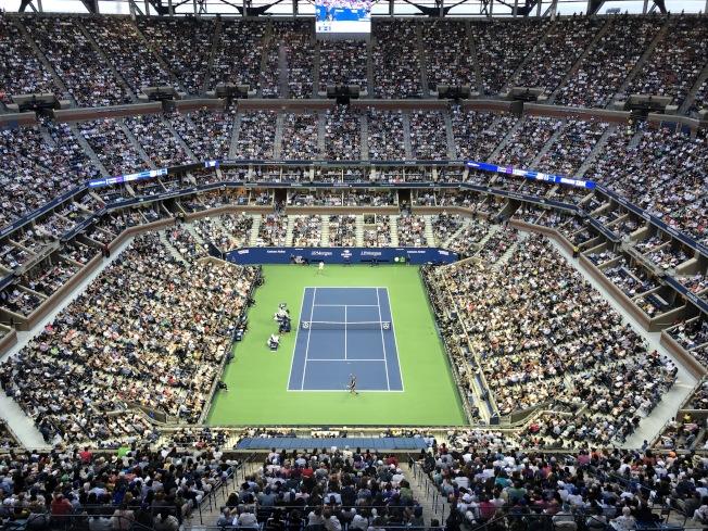 美網公開賽每年夏天都吸引幾十萬球迷到場觀戰。(記者朱蕾/攝影)