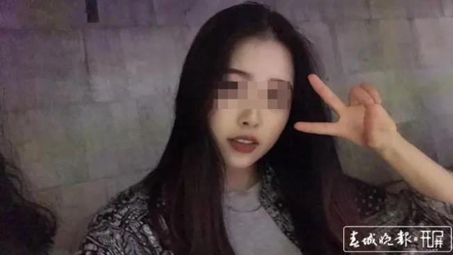 21歲的南京女孩李倩月。(取材自春城晚報)