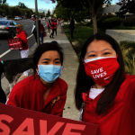 N95須重複使用 護士示威抗議
