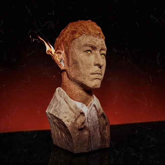 潘瑋柏的「Mr. R&Beats節奏先生」專輯封面是特製木雕。圖/華納音樂提供